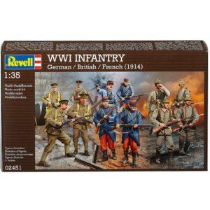 REVELL 02451 Set WWI German/British/French Infantry Modellismo