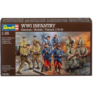 Revell 02451 Set WWI German/British/French Infantry