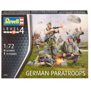 REVELL 02532 German Paratroops WWII - include 44 figur Modellismo