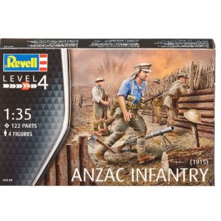 Revell 02618 ANZAC Infantry (1915) include 4 figure