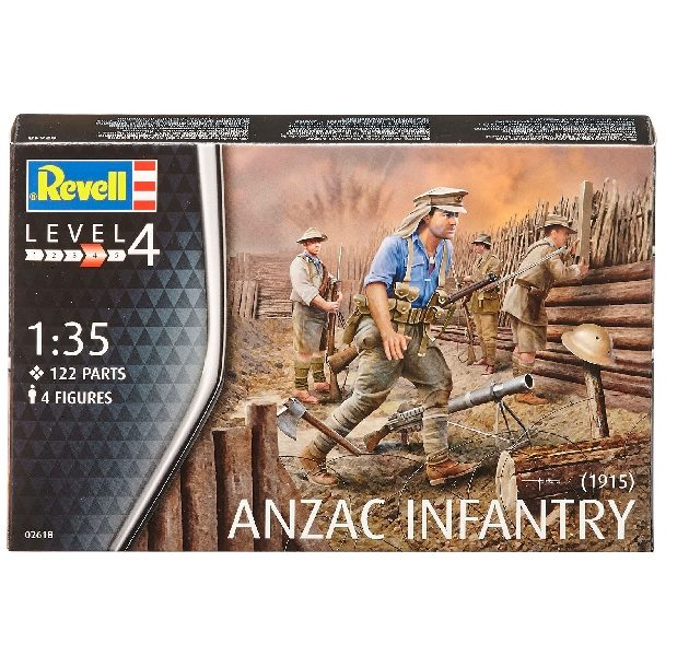 REVELL 02618 ANZAC Infantry (1915) include 4 figure Modellismo