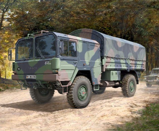 Revell 03257 LKW 5T.MIL GL (4X4 TRUCK) Modellismo