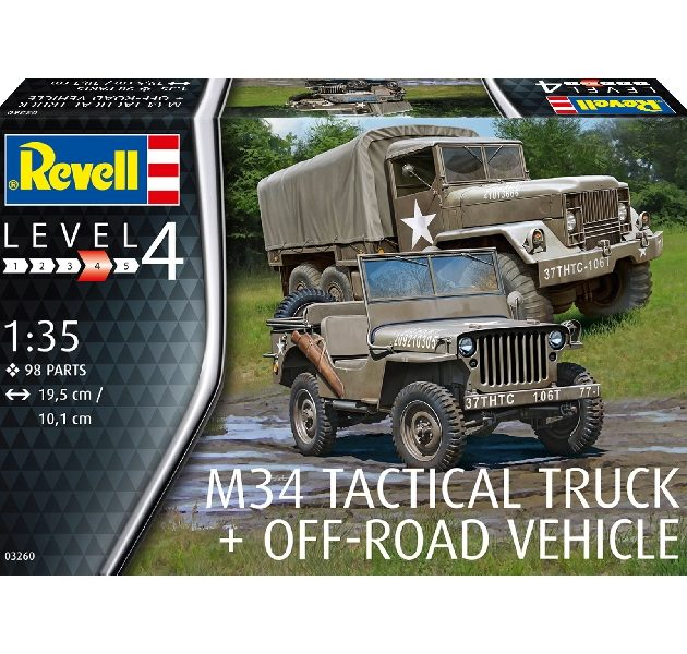 Revell 03260 M34 TACTICAL TRUCK & OFF ROAD VEHICLE Modellismo