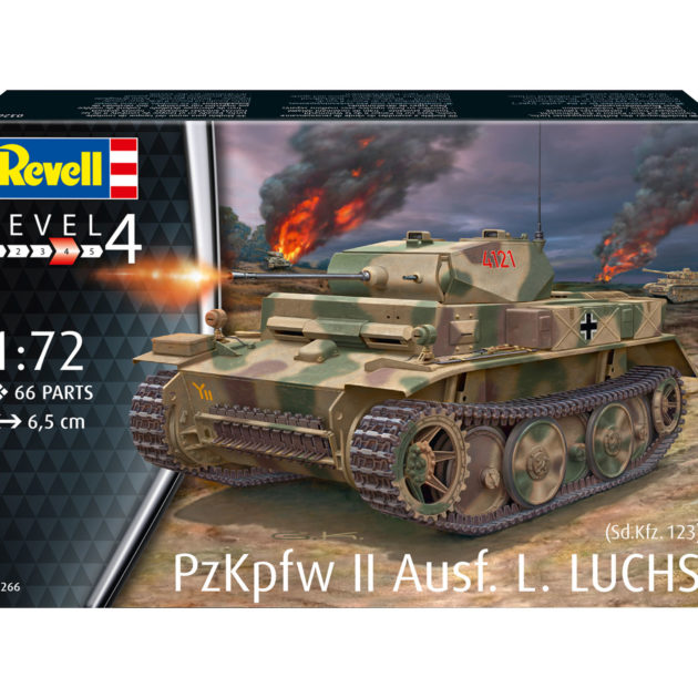 "Revell 03266 PzKpfw II Ausf. L ""Luchs"" (Sd.Kfz. 123) Modellismo"