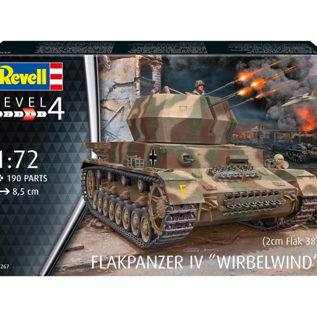 "Revell 03267 AA Tank IV ""Wirbelwind"" (2 cm Flak 38) Modellismo"