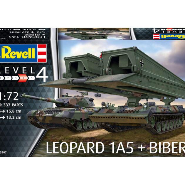 "Revell 03307 LEOPARD 1A5 & BRIDGELAYER ""BIBER"" Modellismo"