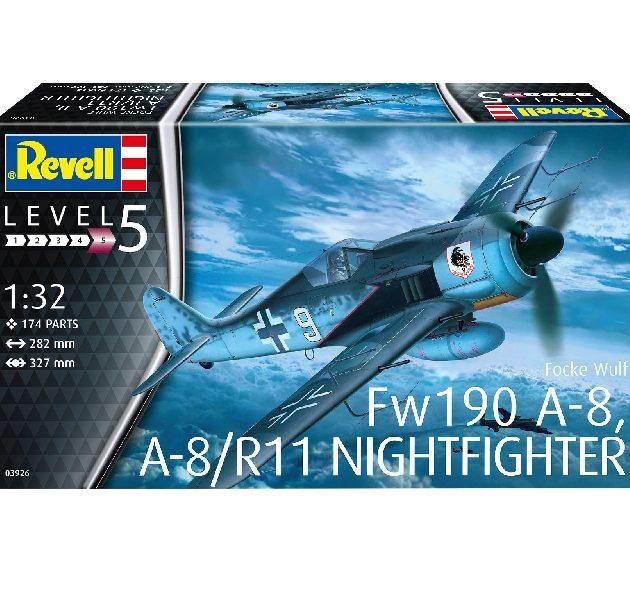 Revell 03926 FOCKE WULF FW 190 A-8 NIGHTFIGHTER Modellismo