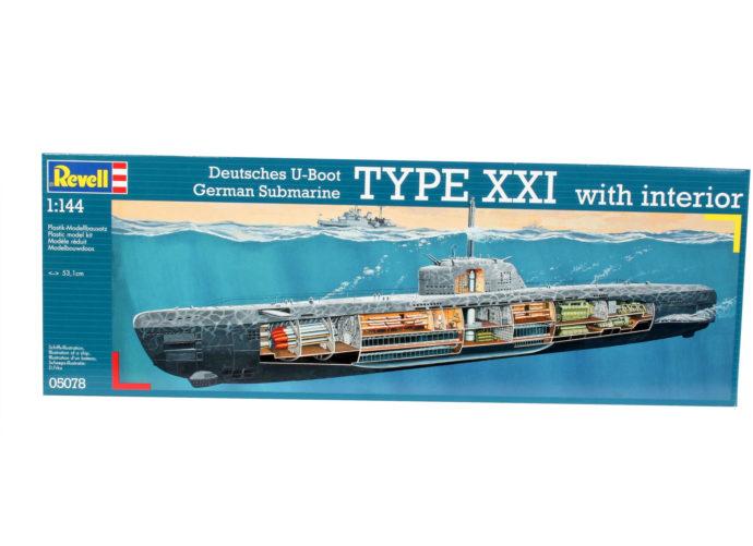 Revell 05078 U-Boat XXI Type w. Interieur