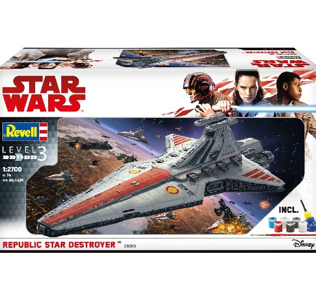 Revell 06053 1/2700 GIFT SET REPUBLIC STAR DESTROYER - Modellismo