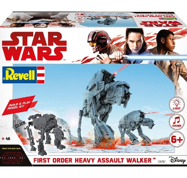 Revell 06761 BUILD & PLAY FIRST OR. HEAVY ASSAU. WALKE Modellismo
