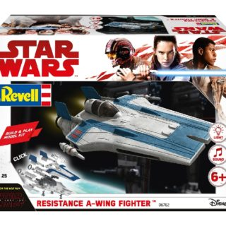 Revell 06762 BUILD & PLAY  RESISTANCE A-WING FIGHT. BLUE (STAR W. THE LAST JEDI)