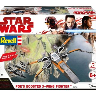 Revell 06763 BUILD & PLAY POE's BOOSTED X-WING FIGHTER (STAR W. THE LAST JEDI)