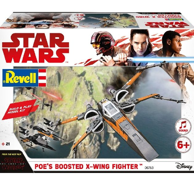 Revell 06763 BUILD & PLAY POE's BOOSTED X-WING FIGHTER Modellismo