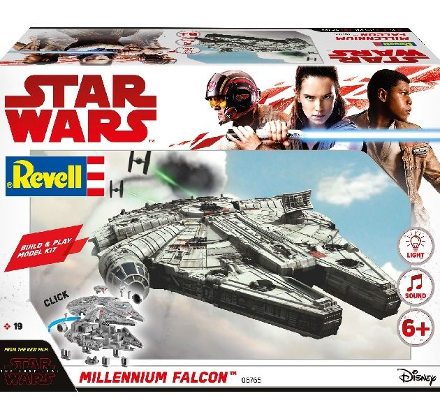 Revell 06765 BUILD & PLAY MILLENIUM FALCON (STAR WARS  Modellismo