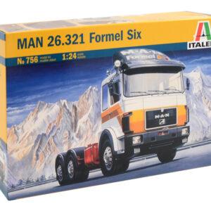 ITALERI 0756 Camion in Kit MAN 26.231 FORMEL SIX