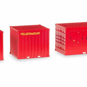 Herpa 076807 3 Container pompieri Modellismo