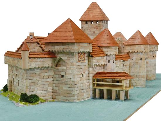 Aedes 1012 Castello di Chillon in mattoncini terraco Modellismo