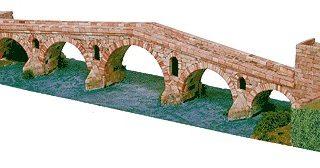 Aedes 1203 PONTE LA REINA in mattoncini terracotta Modellismo