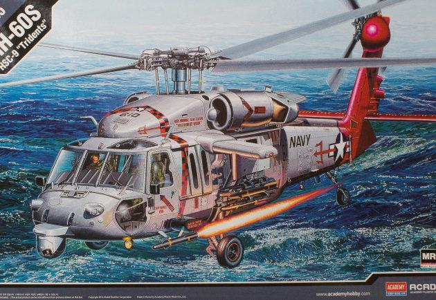 "ACADEMY 12120 Elicottero U.S. Navy Mh-60s Hsc-9 ""Tridents"""