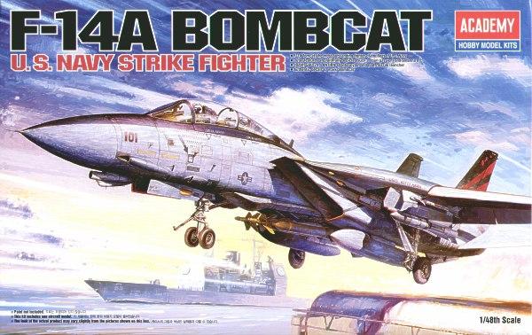 Academy 12206 Aereo in kit F-14 TOMCAT BOMCAT