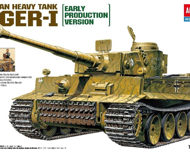 Academy 13264  TIGER I WWII TANK 'EXTERIOR MODEL'