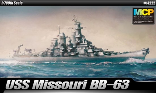 Academy 14222  USS. MISSOURI BB-63