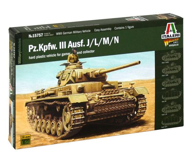 ITALERI 15757 Pz.Kpfw. Iii Ausf.J/K/L/M