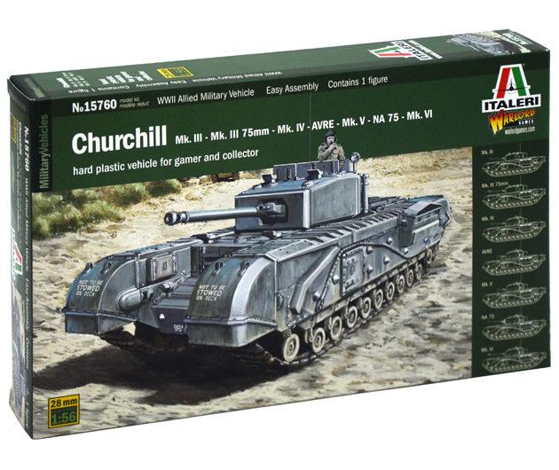 Italeri 15760 CHURCHILL MK.III/IV/AVRE/NA75