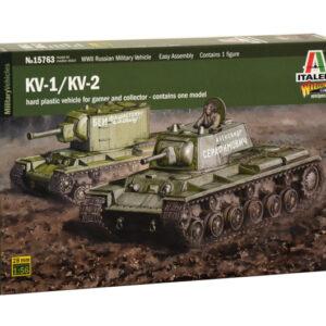 Italeri 15763 KV1 / KV2 include 1 figurino 100% nuovo s