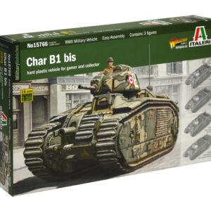 Italeri 15766 CHAR B1 (3 TANK DRIVERS INCLUDED)