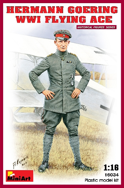 MINIART 16034 Hermann Goering. Ww1 Flying Ace