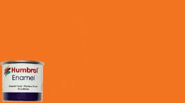 Humbrol Smalto sintetico arancio lucido 18 Modellismo
