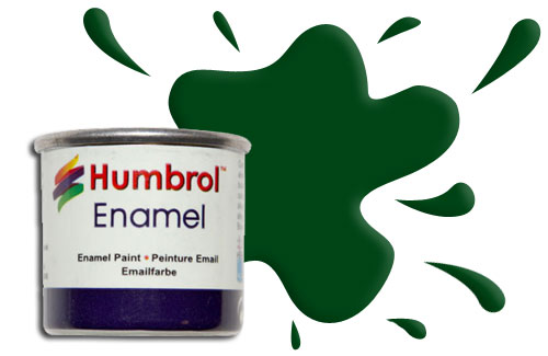 Humbrol Smalto sintetico verde scuro satinato 195 Modellismo