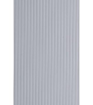 Evergreen 2080 Foglio rigato stirene bianco 15x30cm 0