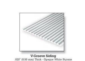 Evergreen 2125 Foglio rigato stirene bianco 15x30cm 0