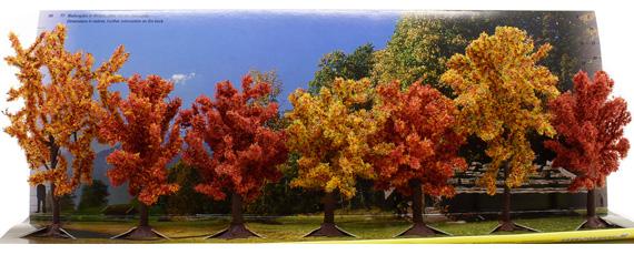 Noch 25070 Confezione 7 alberi autunnali Modellismo