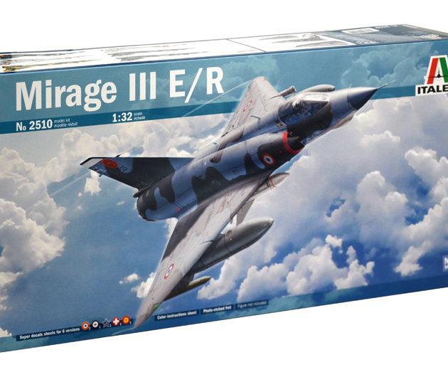 ITALERI 2510 Aereo in kit MIRAGE III E/R  - incude super decal e fotoincisioni - scala 1/32