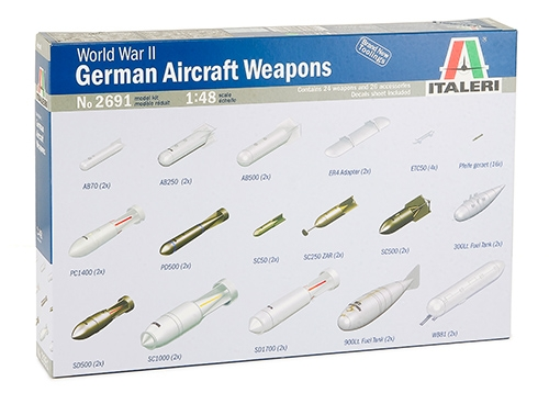ITALERI 2691 WWII German Aircraft Weapons