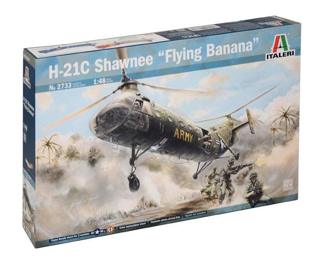 "Italeri 2733  H-21 C SHAWNEE ""FLYING BANANA"" Modellismo"