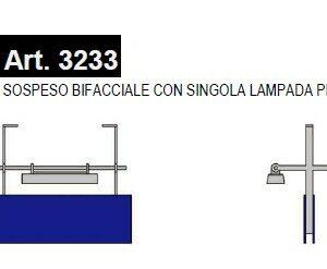 Essemme 3233 Cartello di stazione illuminato SOSPESO B Modellismo