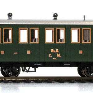 Bemo 3234117 Carrozza passeggeri RhB C.47 (1895-1899)