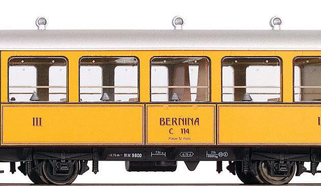 Bemo 3238164 Carrozza passeggeri RhB C.114 'La Bucunad