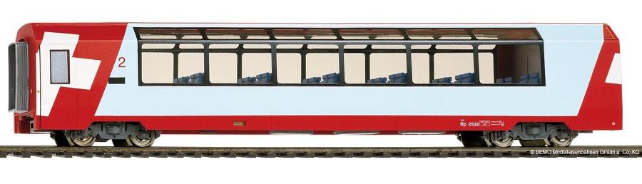 Bemo 3289126 Carrozza panoramica RhB Bp 2536 GEX