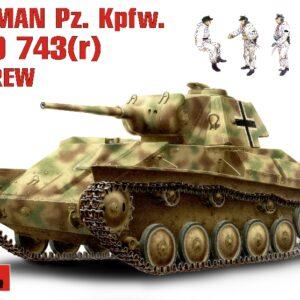 MINIART 35026 German Pz.Kpfw. T-70743(R) W/ Crew Modellismo