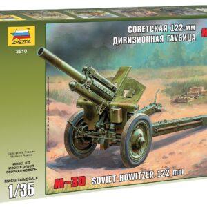 ZVEZDA 3510 Soviet 122mm Howitzer M-30   Ww Ii