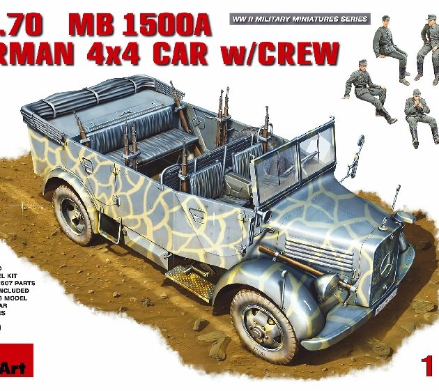 MINIART 35139 Kfz.70 (Mb 1500a) German 4x4 Car W/Crew