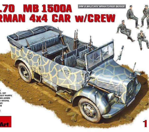 MINIART 35139 Kfz.70 (Mb 1500a) German 4x4 Car W/Crew