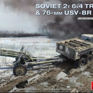 Miniart 35272 SOVIET 2 T 6X4 TRUCK with 76mm USV-BR GUN