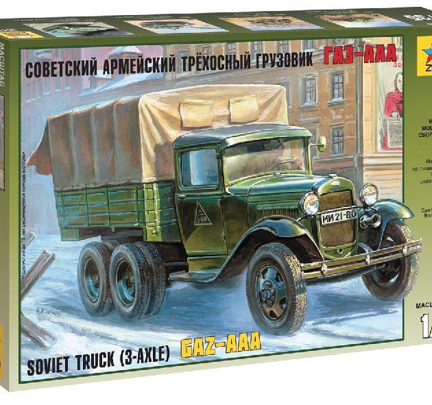 ZVEZDA 3547 Gaz-Aaa Soviet Truck (3-Axle)