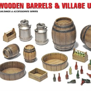 MINIART 35550 Wooden Barrels & Village Utensils Modellismo